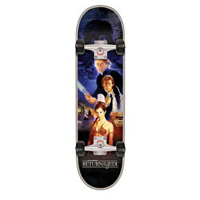 Santa Cruz x Star Wars Return Of The Jedi Poster Complete Skateboard - 8.25