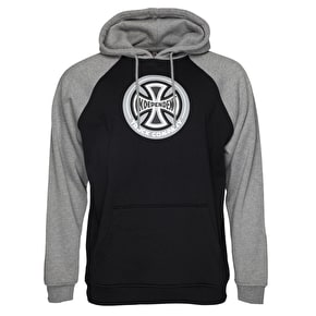 Independent 88TC Raglan Hoodie - Black/Dark Heather
