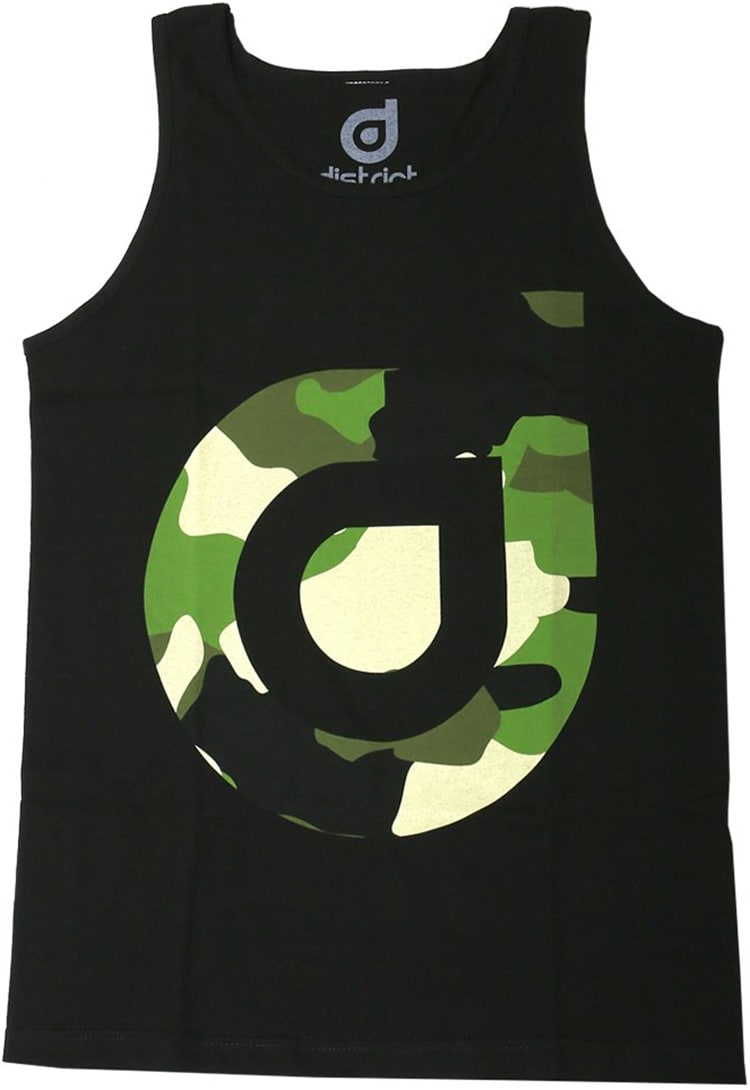 Image of District Supply Co. Logo Tank Top - Black