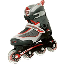 Xcess MX S1000 Semi Soft Adjustable Inline Skates - Red