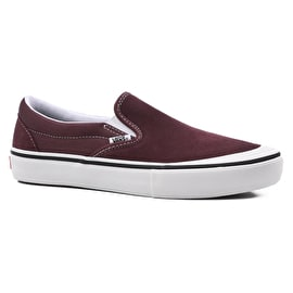 Vans Slip-On Pro Skate Shoes - Raisin/White