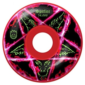 Spitfire Pentagram Colour Skateboard Wheels - Red 54.666mm (Pack of 4)