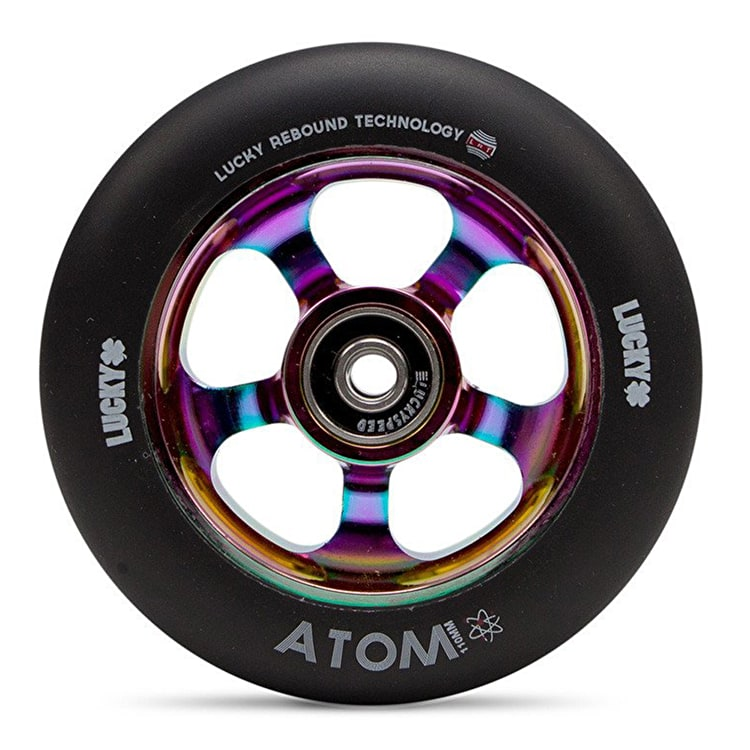 Lucky Atom 110mm Scooter Wheel - Neochrome/Black