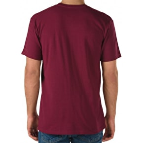 Vans Push Through T-Shirt - Burgundy