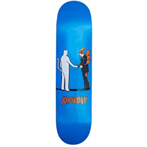 RIPNDIP Burn Skateboard Deck - Blue