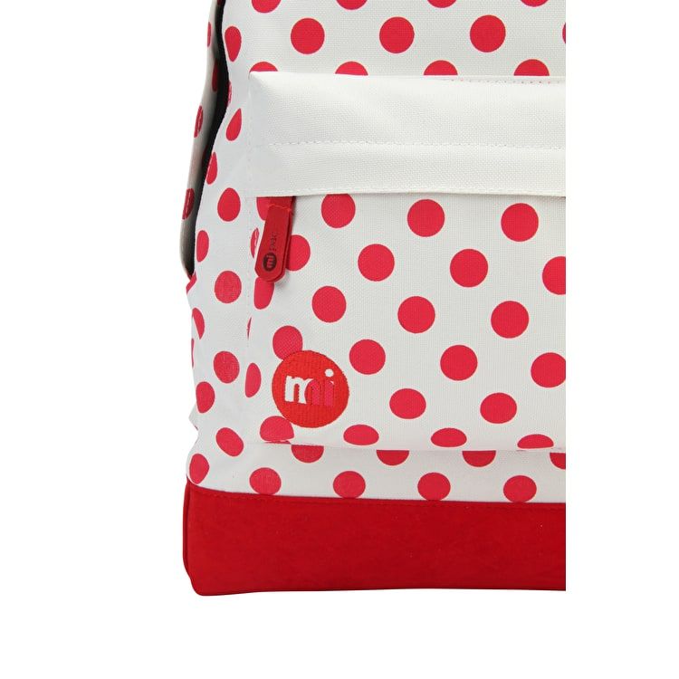 Mi-Pac All Polkadot Backpack - Natural/Red