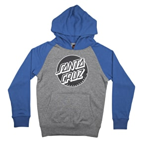 Santa Cruz Dot Kids Hoodie - Federal Blue/Dark Heather