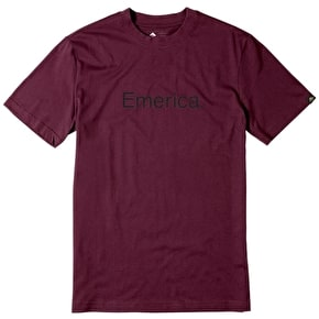 Emerica Pure Emerica T-Shirt - Burgundy