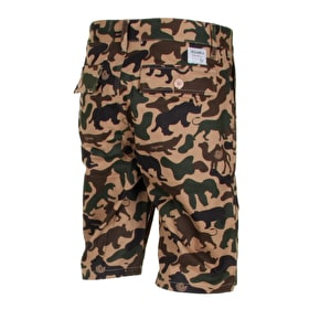 Organika Grow Shorts - Khaki Animal Camo