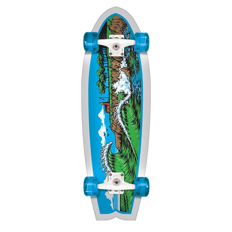 Santa Cruz Land Shark The Point Complete Cruiser - Blue/White 27.7""