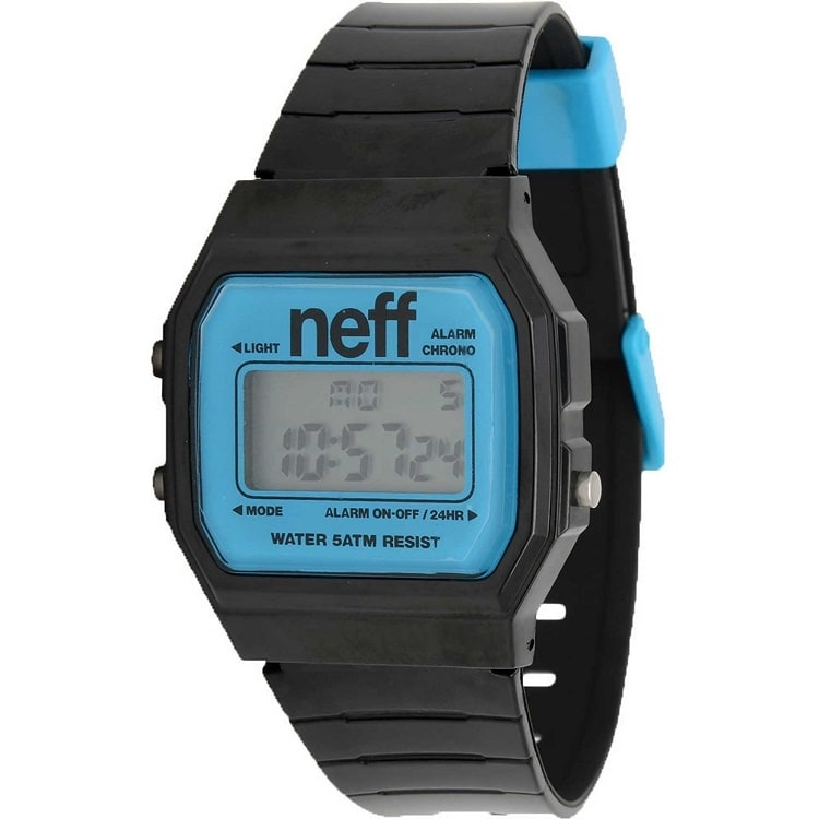 Neff Flava Watch - Black / Cyan