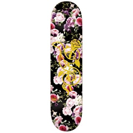 Real Full Bloom Skateboard Deck - Black/Multi 8.5