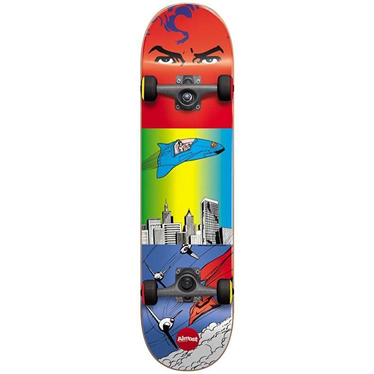 """Almost Superman Flight Youth Complete Skateboard - Red/Blue 7"""""""