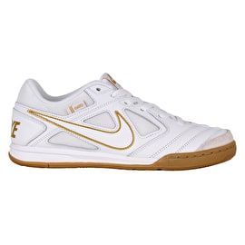 Nike Gato Skate Shoes - White/White-Metallic Gold