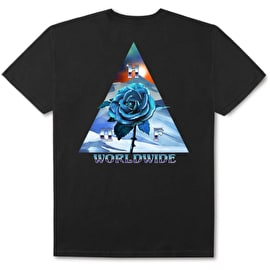 Huf Ice Rose Triangle T Shirt - Black