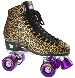 Rookie Classic Roller Skates - Gold Leopard