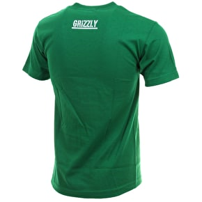 Grizzly OG Bear Logo T-Shirt - Kelly Green