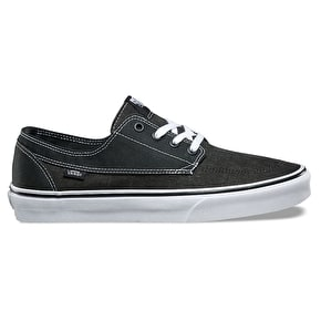 Vans Brigata Skate Shoes - (Washed Canvas) Pirate Black/White