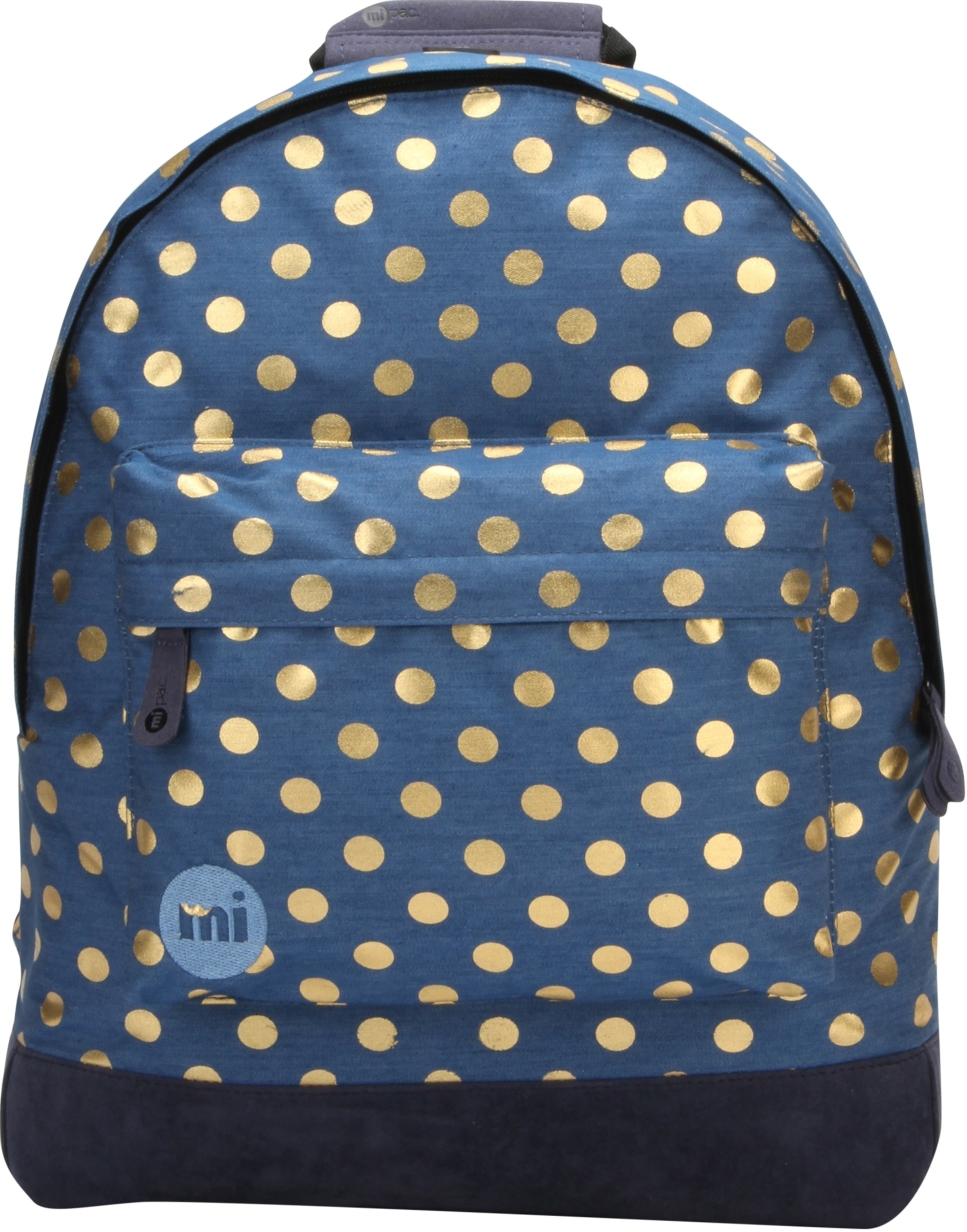 MiPac Denim Polka Backpack  IndigoGold