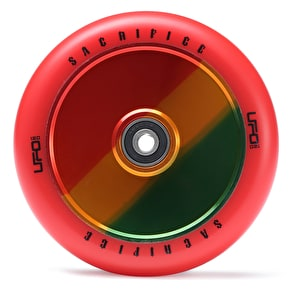 Sacrifice UFO 120mm Scooter Wheels w/Bearings - Red/Jamaica