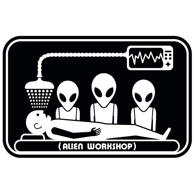 "Alien Workshop Abduction 3"" Skateboard Sticker - Multi"