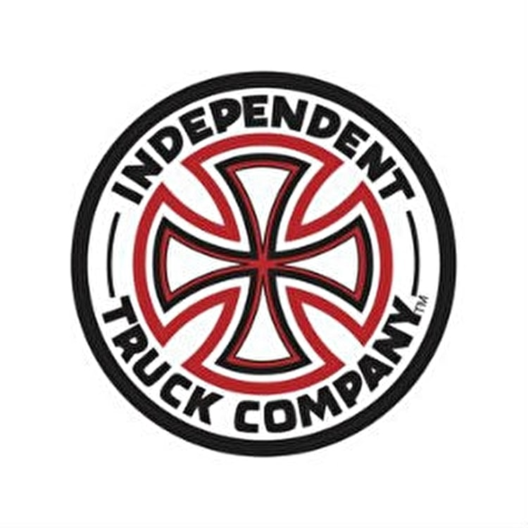 Independent Red & White Cross Skateboard Sticker