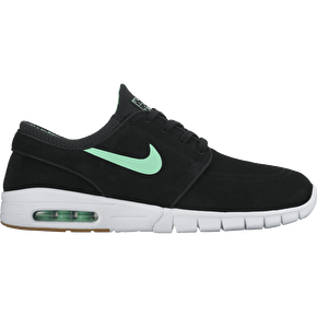 Nike Stefan Janoski Max L Skate Shoes - Black/Green Glow