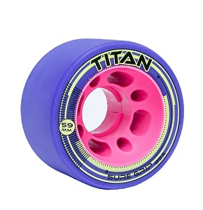 Sure-Grip Titan 59mm Quad Derby Wheels 89a- Purple