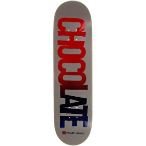 Chocolate Cut Out Skateboard Deck - Alvarez 8.25