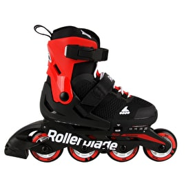 Rollerblade Microblade Adjustable Roller Blades - Black/Red