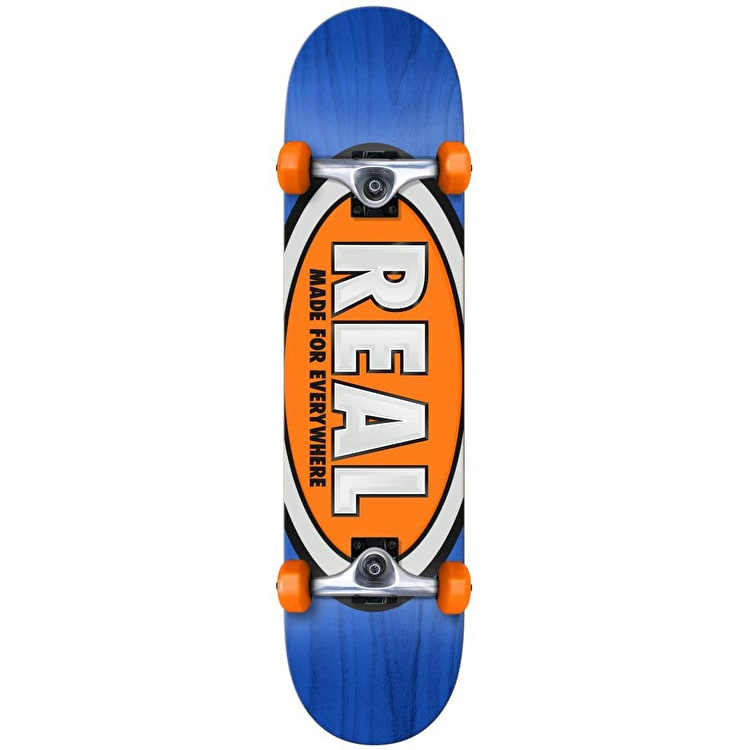 Real Team Ovals Complete Skateboard - 7.5""