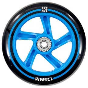 Frenzy 125mm Scooter Wheel w/Bearings - Blue