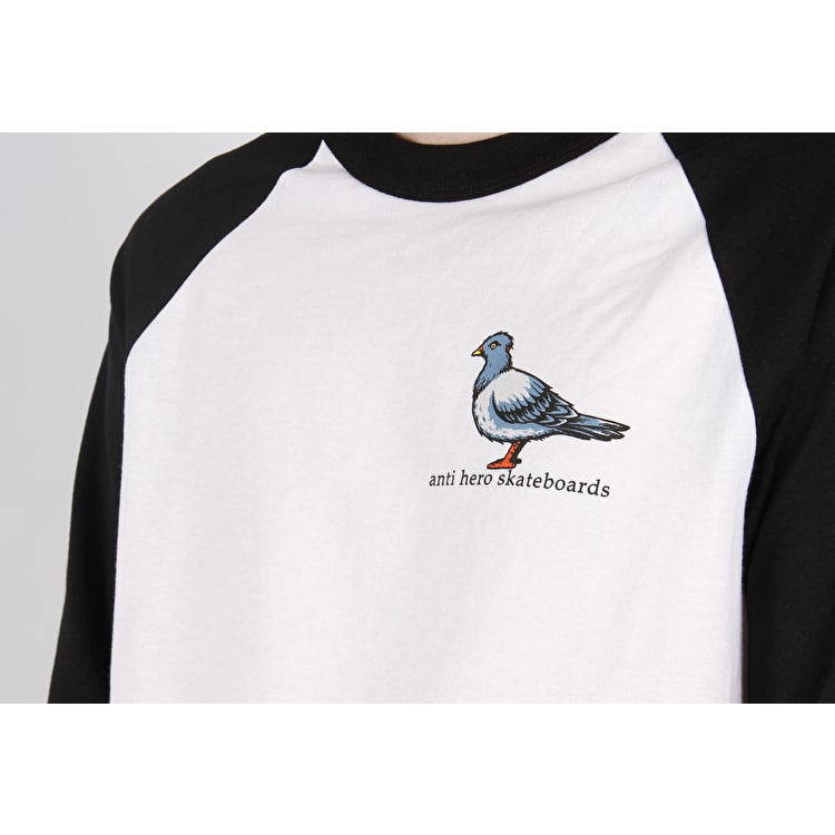 Anti Hero Lil Pigeon Raglan T Shirt - White/Black