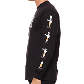 Rebel8 Die Slow Longsleeve T-Shirt - Black