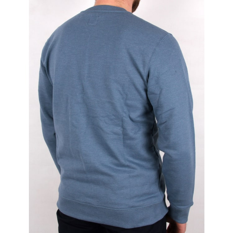 Vans Classic Crew Neck Sweater - Copen Blue Heather/White