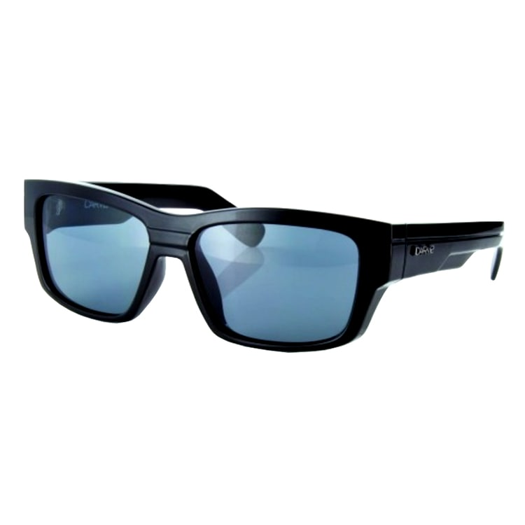 Carve The Baron Polarized Sunglasses - Matte Black/Blue Revo