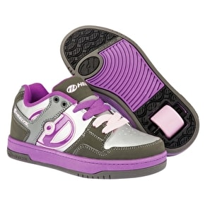 Heelys Flow - Charcoal/Silver/Purple UK 1 (B-Stock)