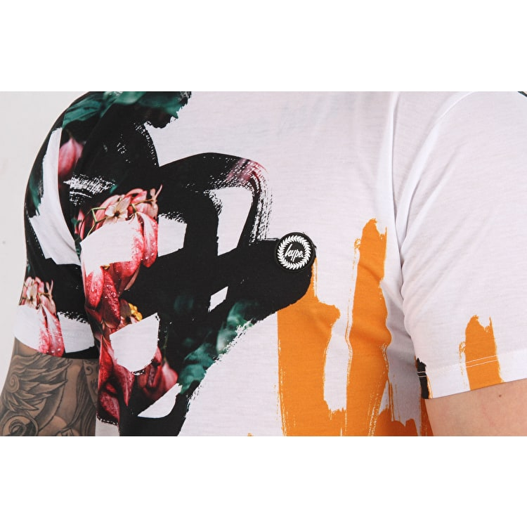 Hype Abstract T shirt - White/Multi