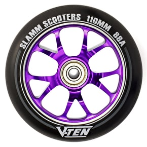 Slamm 110mm V-Ten II Aluminium Core Scooter Wheel - Black/Purple
