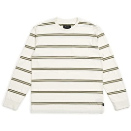Brixton Hilt Long Sleeve Pocket T Shirt - Off White Pine