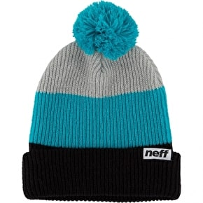 Neff Snappy Beanie - Black/Teal/Grey