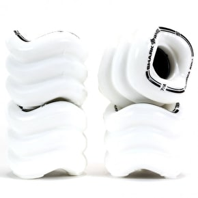 Shark Wheel California Roll 60mm 78A Longboard Wheels - White