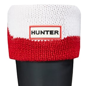 Hunter Kids Moustache Boot Socks - Red / White
