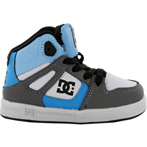 DC Rebound SE Kids' Shoes - Grey/Grey/Blue