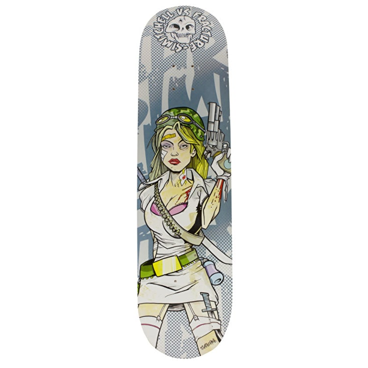 Fracture x Si Mitchell Skateboard Deck - Survive 8.25""
