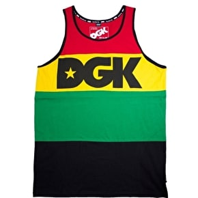 DGK Faded Tank Top - Rasta/Black