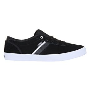DVS Epitaph Skate Shoes - Black/White Suede