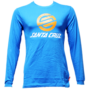 Santa Cruz Stripknot LS T-Shirt - Swedish Blue