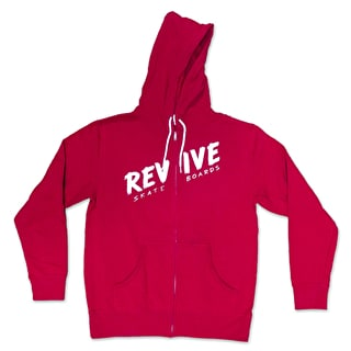 ReVive Sketch Zip Hoodie - Red