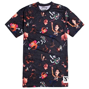 Neff Toy Story All Over T-Shirt - Black